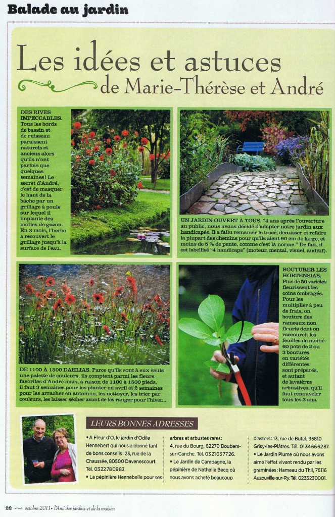 Actualit s andr van beek artiste peintre le jardin du peintre - L ami des jardins et de la maison ...